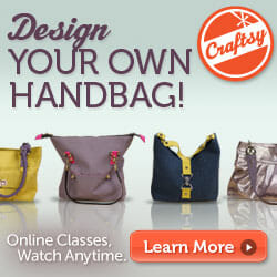 Design your own Handbag Class - 50% off with this special code.
