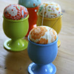 Egg cup pin cushions