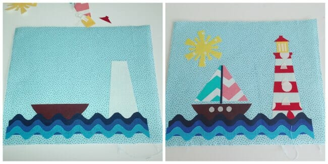 Template and instructions for this nautical mug rug.