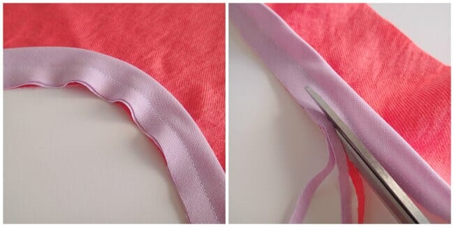 How to add a bias tape binding to a neckline or armhole to finish the raw edge. Not too difficult and gives a super-smart finish.