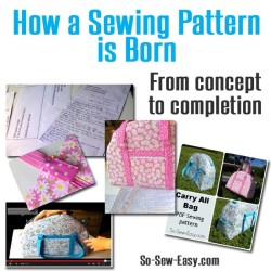 The process of designing and publishing a sewing pattern from concept to release.