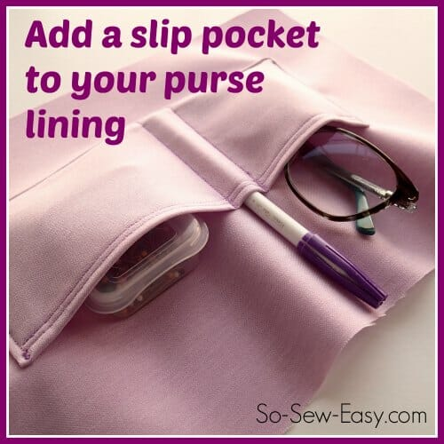 Sew the perfect slip pocket for your bag - So Sew Easy