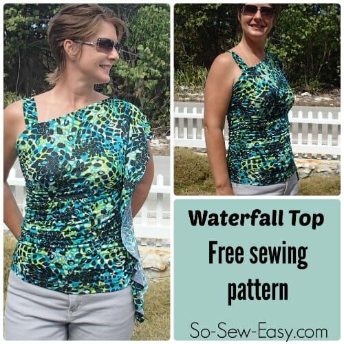 Waterfall top – free sewing pattern