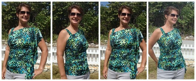 The cutest summer top!  Free pattern in any size.