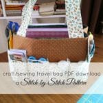 Crafty travel tote