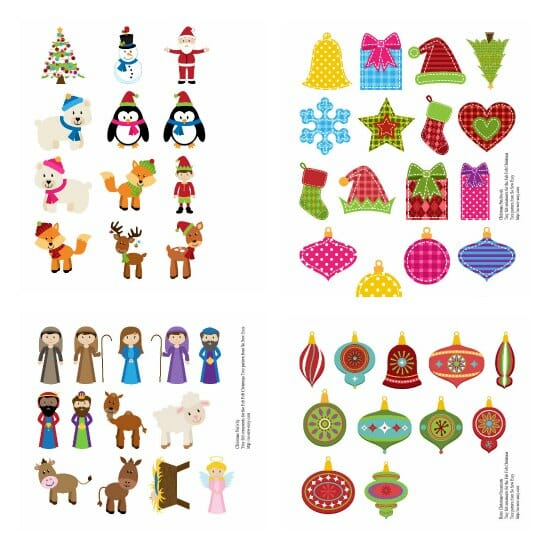 Bright Christmas ornaments to make out of felt.  Genius idea - iron on the design, cut out, stuff and hang!  Mini and full size.
