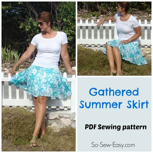Gathered Summer Skirt Free Skirt Pattern So Sew Easy