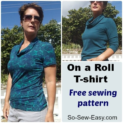 Free t-shirt sewing pattern with video tutorial.
