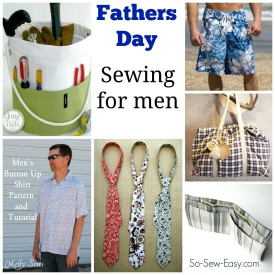 Sewing for men and gift ideas for Fathers Day to sew.. I can see my Dad liking some of these.
