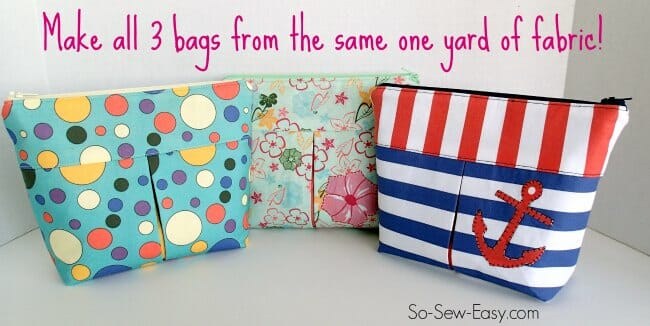 cosmetics bag pattern