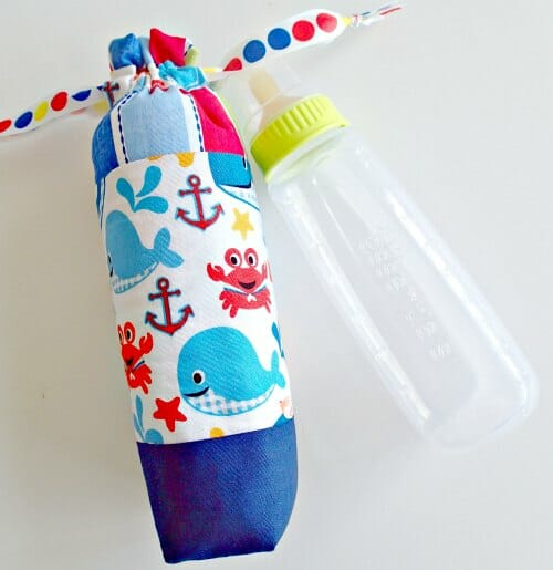 I love these for baby shower gifts. Practical but pretty 'keep warm' insulated feeding bottle bags.