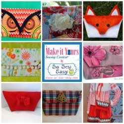 Vote for your favorite bags in the Make It Yours sewing contest. Or be inspired to sew your own - the pattern is free.