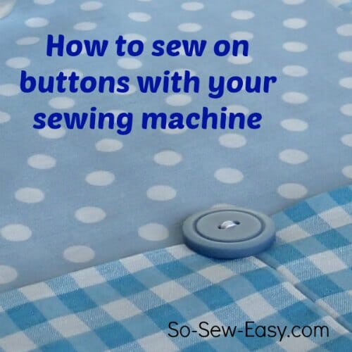 sew on buttons with sewing machine