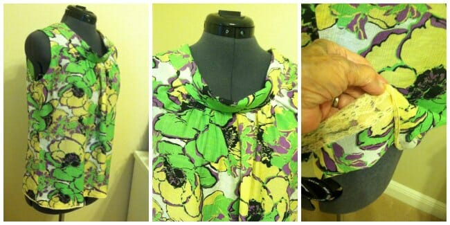 Easy Breezy Blouse with front gathers, bias facing, french seams and super cute!