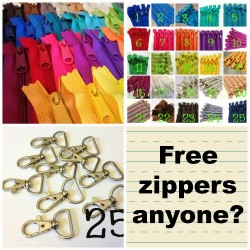 Giveaway to win vouchers for credit at Zipper Shop - free zippers, buttons and accessories