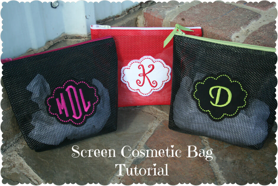 Tips and a free pattern for sewng with vinyl coated mesh fabric. Cool ideas!
