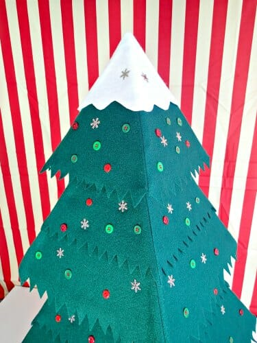 Felt Christmas Tree Pattern.How To Make And Sew A Fab Felt Christmas Tree