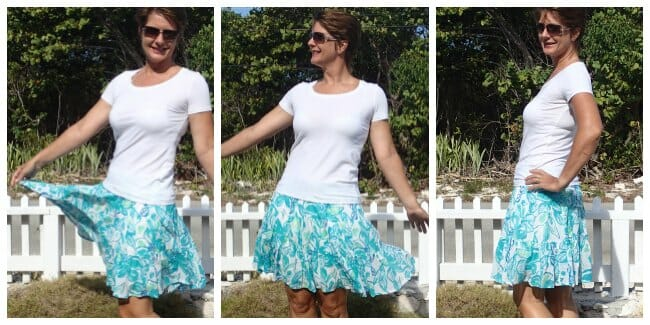 How to sew a pretty and easy tiered and gathered skirt.
