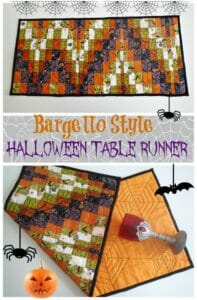 Bargello style quilted Halloween Table Runner. Great idea to try out bargello patterns.