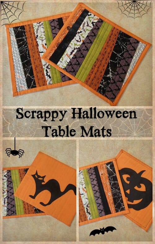 Great way to use jelly rolls or scraps for a scrappy look. Love the silhouette applique on the back.