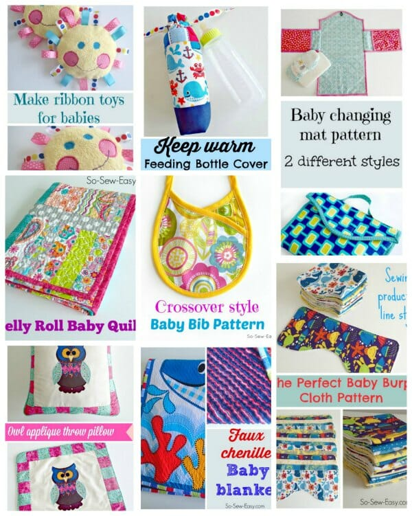 Sewing for babies – baby shower gifts to sew