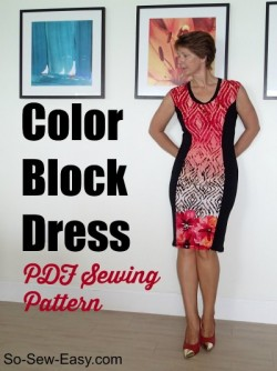 Color block dress pattern
