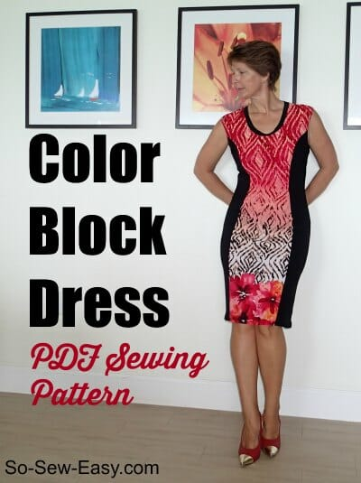 Color block dress pattern - POTM - So Sew Easy
