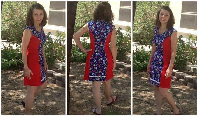Side-Panel Colorblock Dress