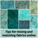 Great tip on how to use PicMonkey to mi and match fabrics before buying online