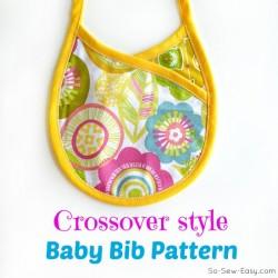 crossover baby bib pattern