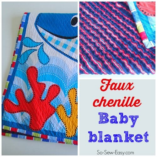 The most adorable chenille style baby blanket. I want to make a full sized on for my own bed. Just takes a bit of patience!
