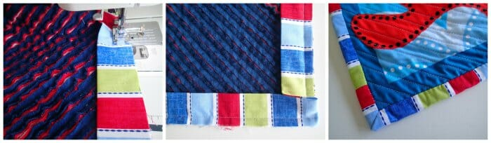 Faux chenille baby blanket - the binding process