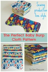 The perfect baby burp cloth pattern, and how to sew them production line style.