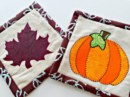 Autumn or Fall mug rug pattern - So Sew