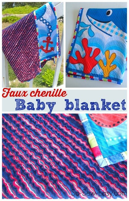 Faux Chenille Baby Blanket So Sew Easy