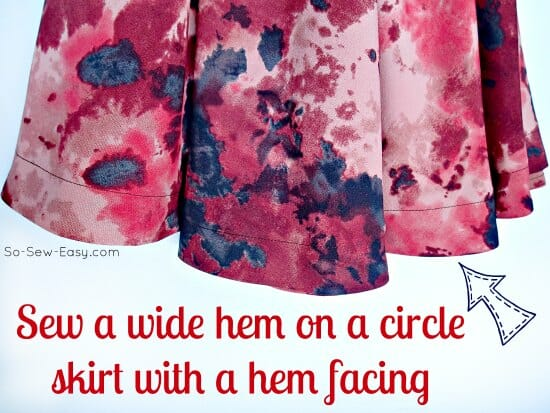 How to sew a hem facing on a circle skirt