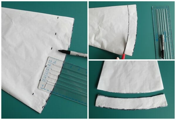 How to sew a wide hem on a circle skirt using a hem facing