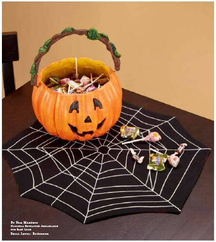 Spider web placemats - Sewing For The Halloween Table From So Sew Easy - Seams And Scissors