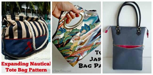 How to add a recessed zipper to a bag pattern