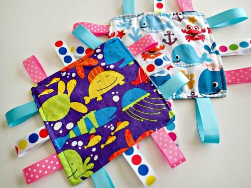 How to make this ribbon toy for babies and toddlers that makes a crinkly noise that they love.