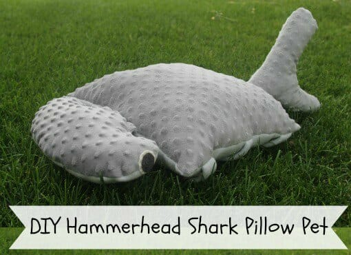 How to make your own Pet Pillow - love this one is a hammerhead shark. What a great idea.