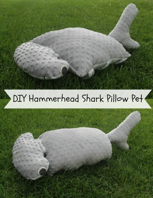 How to make your own Pet Pillow Pattern - love this one is a hammerhead shark.  What a great idea.