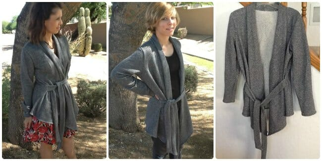 cardigan sewing pattern