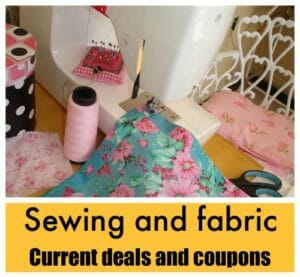 Live list of coupons, deals and fabric sales, quilting and sewing shops.