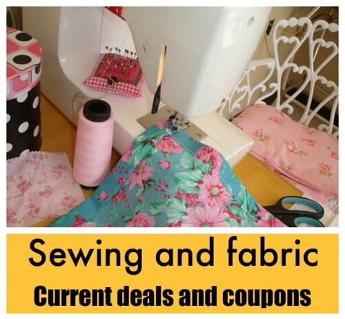 Fabric sales, deals and coupons