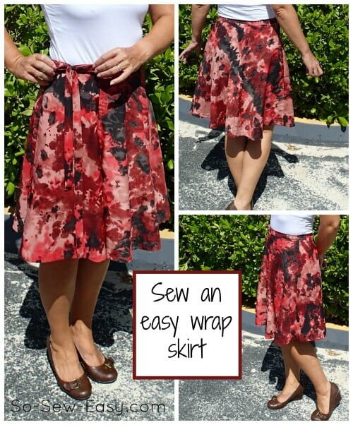 Half Circle Wrap Skirt Pattern The Sewing So Sew Easy