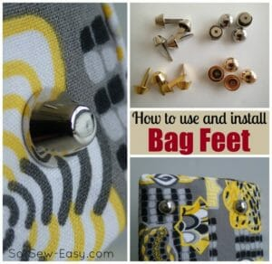 How to install bag feet, different types and where else to use them