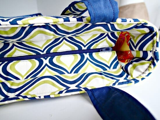 sewing recessed zipper bag