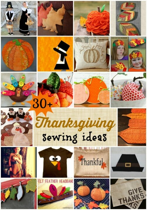 Some really original Thanksgiving sewing ideas I've not seen anywhere else. Plus links to lots more from previous years.