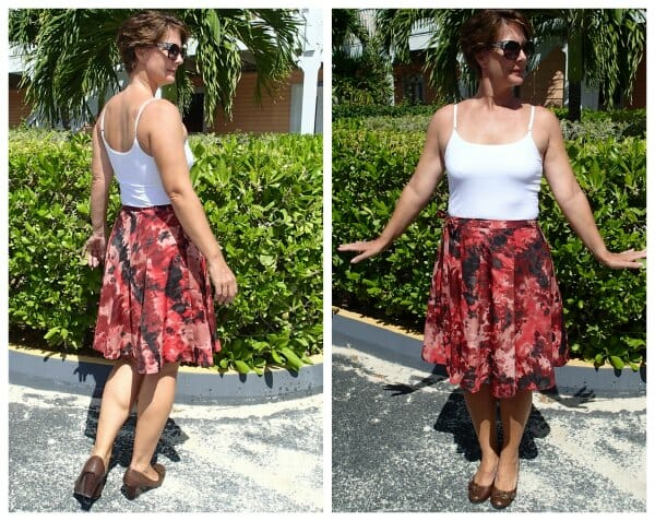 Cute half-circle wrap skirt pattern. Looks easy to sew and fun to wear.